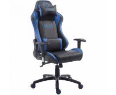 Sedia da ufficio Racing XL Shift in similpelle Nero/blu