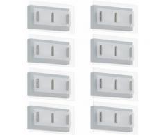 Etc-shop - Progettare insieme di 8 luci a LED parete esterna lampade cortile vetro lampade EEK A +