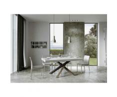 Itamoby S.r.l. - Tavolo Volantis Allungabile piano Bianco Frassino 90x160 allungato 420 telaio 4/C