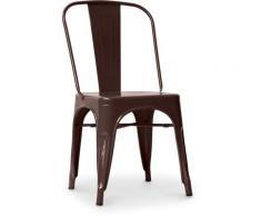 Sedia stile Tolix sedile quadrato - Nuova Edizione - Metallo Bronzo