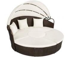 Salotto da giardino poltrone divano da esterno in polyrattan sdraio rattan letto colore principale: