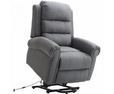 Poltrona relax massaggiante riscaldante con sistema alzapersona grigio