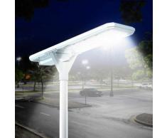 Lampione solare stradale Led 4000 lumen pannello e sensori integrati Megatron