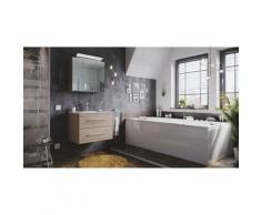 Emotion - Set di mobili da bagno Firenze 70 2 parti rovere chiaro e armadio specchio