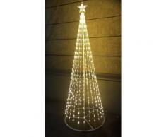 Albero di natale style basic 576 led+flash con stella altezza 2 mt 12v bianco caldo - Salone