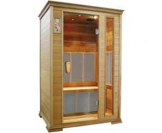 Sauna Finlandese Ad Infrarossi 2 Posti 125x105 Cm In Legno Di Cedro Canadese H188 Vorich Gold
