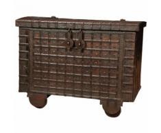 Cassapanca Baule con Seduta in Legno Contenitore Forziere Antico da Ingresso