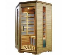 Sauna Finlandese Ad Infrarossi 2-3 Posti 120x118 Cm In Legno Di Cedro Canadese H184 Vorich King
