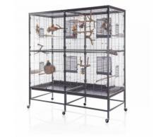 Voliera gabbia per uccelli pappagalli L 150 x B 65 x H 161 cm