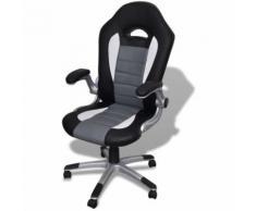Sedia ufficio in pelle design moderno grigio