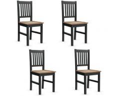 Set di 4 sedie in Legno, Sedie con Schienale e Sedile Ampio, Sedie per Sala da Pranzo, Ideale per
