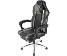 Sedia da gioco, sedia da gioco, cuscino lombare e poggiatesta, altezza regolabile, sedia da ufficio