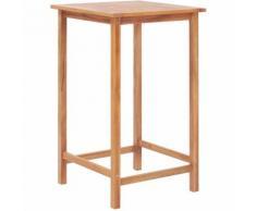 Tavolo da Bar per Esterni 65x65x110 cm in Massello di Teak