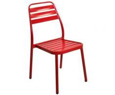Sedia da giardino esterno rossa impilabile cm49x58h45/88