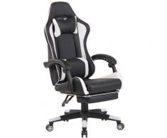Sedia da ufficio Lismore Racing Design Nero/bianco