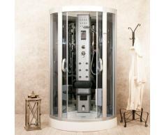 Box Doccia Idromassaggio 80x80 Cm Sauna Bagno Turco E Ozonoterapia Little Eden - Vorich
