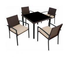 Set di mobili da giardino Meran 4+1 - arredo giardino, tavoli da giardino, sedie da giardino