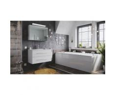 Set di mobili da bagno Firenze 90 2 parti rovere chiaro e armadio specchio