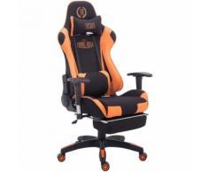 Sedia gaming ufficio Turbo Nero/arancione Tessuto