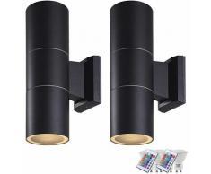 Set di 2 lampade per esterni. Set di telecomando per lampade da soffitto UP DOWN con lampade a LED