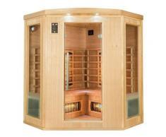 Sauna infrarossi angolare da 3 a 4 posti cm 150x150x190 MPCSHOP SN-APOLLON-3C
