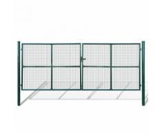 vidaXL Cancello a Rete per Giardino 415 x 200 cm / 400 x 150 cm