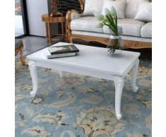 vidaXL Tavolino da Salotto 100x60x42 cm Bianco Lucido