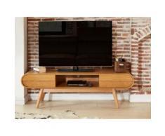 Mobile TV con 2 cassetti, 1 vano e piedi in frassino Naturale - DAVEN