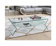 Tavolino con Doppio piano in Vetro temperato - SIERRA