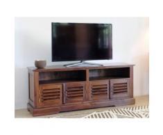 Mobile TV con 4 ante e 2 nicchie in Teak massello - BALI