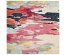 RugVista 200X200 Tappeto Moderno Disa Quadrato Grigio Chiaro/Rosa