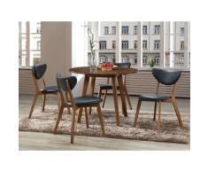 "Set ""Sala da pranzo"": tavolo + 4 sedie Noce e Nero - LISETTE"