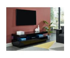 Mobile TV - 3 cassetti e 3 nicchie - LED - MDF laccato nero - FABIO