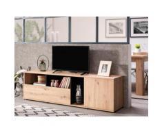 Mobile TV - 2 ante e 3 nicchie - Colore: Quercia - DIEGO