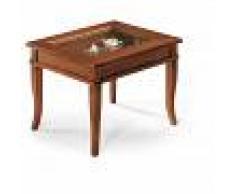 Milani Home DORIAN - tavolino bacheca in legno massello piano vetro 60 x 60