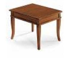 Milani Home DOMINICK - tavolino bacheca in legno massello piano in legno 60 x 60