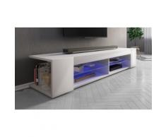Mobile porta TV Selsey con LED: Bianco / 180 cm