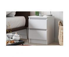 Comodino Trend Home: Bianco-Sonoma / 2 comodini