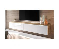 Mobile TV Selsey Origami: Cemento-Bianco lucido / Senza LED