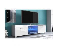 Mobile porta TV con luci LED: Bianco / 150 cm