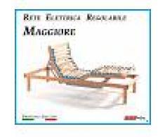 ErgoRelax Rete Elettrica Regolabile Maggiore a Doghe di Legno da Cm. 120x190/195/200 Con Batteria di Emergenza Prodotto Italiano