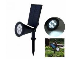 Faretto LED a picchetto illuminazione esterno IP65 a Energia Solare