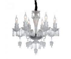 Lampadario da soffitto Cristallo Trasparente Fiori e Tulipani 6 Bracci 2084-6