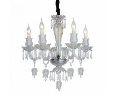 Lampadario da soffitto Cristallo Trasparente Fiori e Tulipani 5 Bracci 2084-5