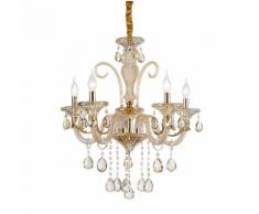 Lampadario da 5 luci lampada In vetro Cristallo dorato 2076-5