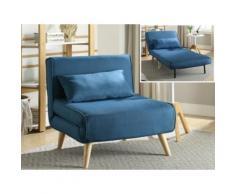 Poltrona letto in tessuto Blu - POSIO