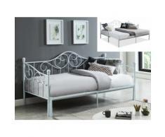 Letto divano con letto estraibile in Metallo 90x200 cm Bianco - SEBILLE
