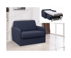 Poltrona letto a ribalta in tessuto NADOA - Posto letto 70cm - Blu