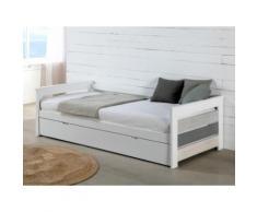 Letto divano con letto estraibile 2x90x190 cm in MDF Bianco - CELIANE