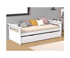 Letto divano con letto estraibile 90x190 cm abete Bianco - ALFONSO